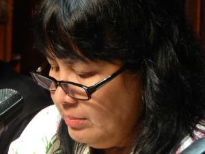 Leila S. Chudori bei einer Lesung im Literaturhaus Berlin.